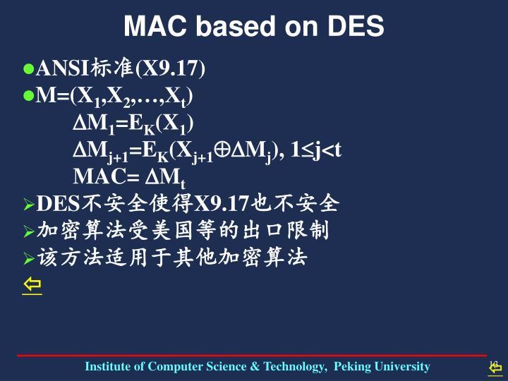 MAC based on DES
