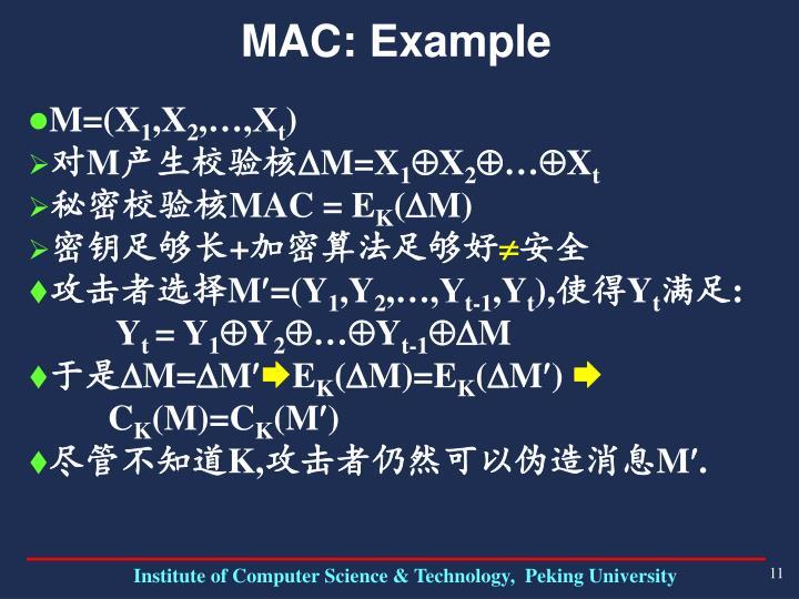 MAC: Example