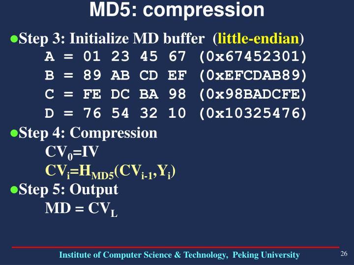 MD5: compression