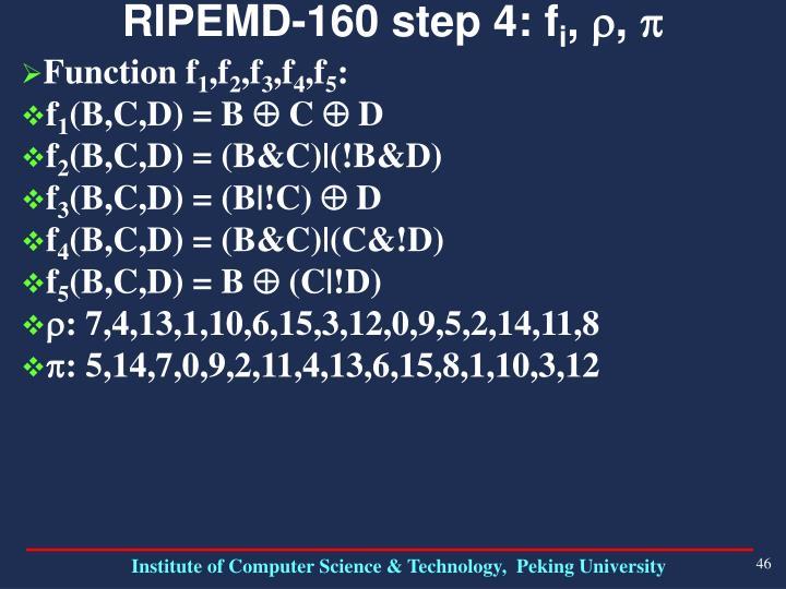 RIPEMD-160 step 4: f