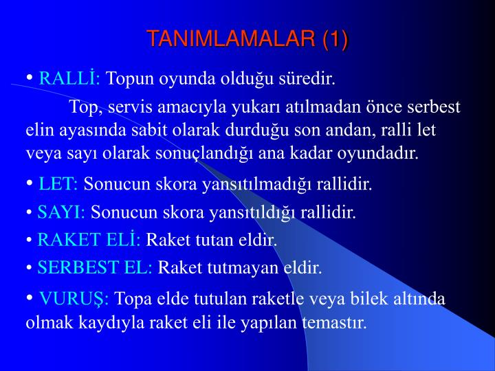 TANIMLAMALAR (1)