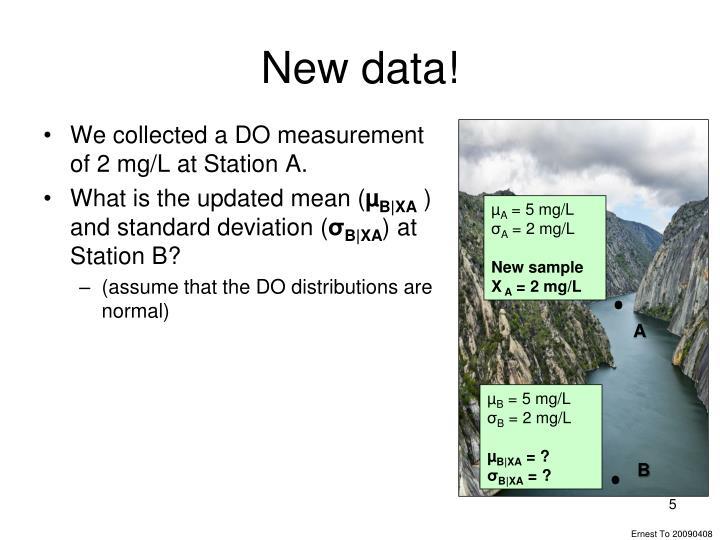 New data!