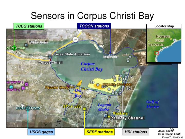 Sensors in Corpus Christi Bay