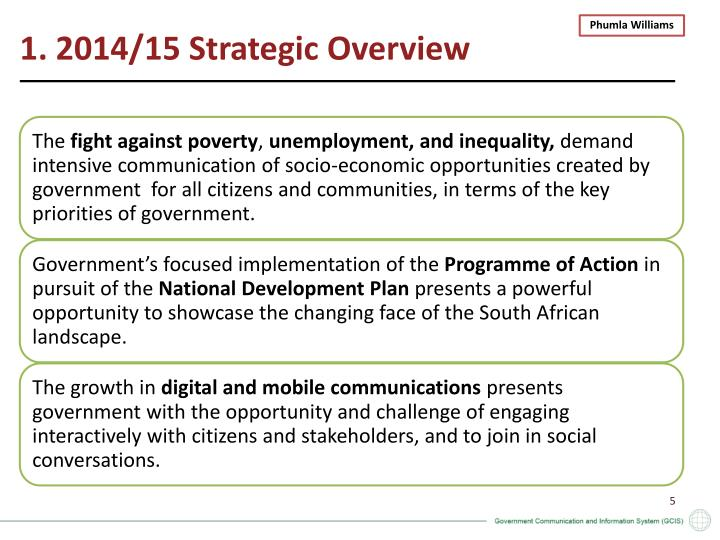 1. 2014/15 Strategic Overview