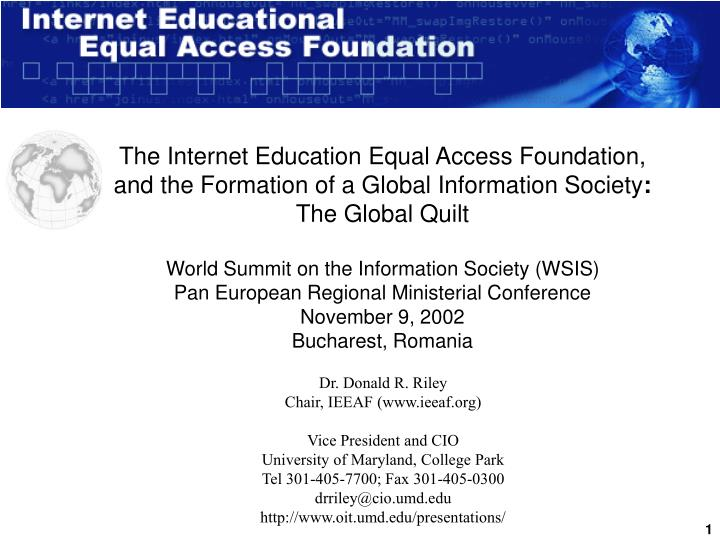 The Internet Education Equal Access Foundation,