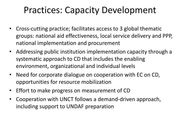Practices: Capacity Development