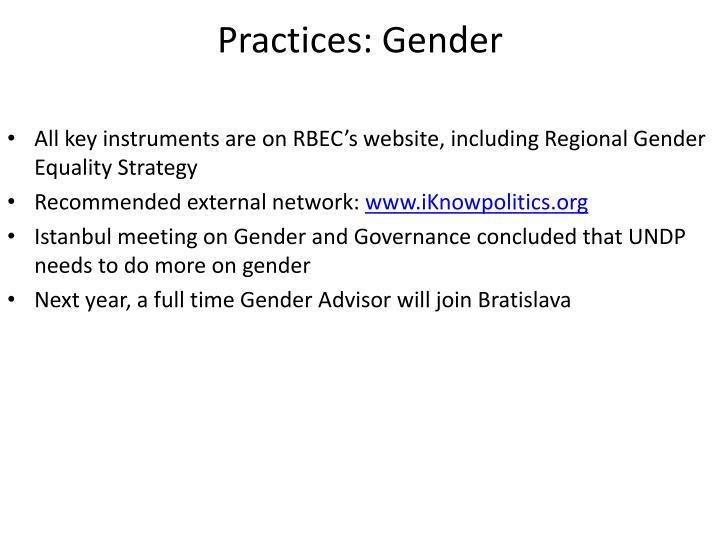 Practices: Gender