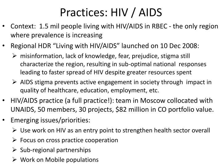 Practices: HIV / AIDS