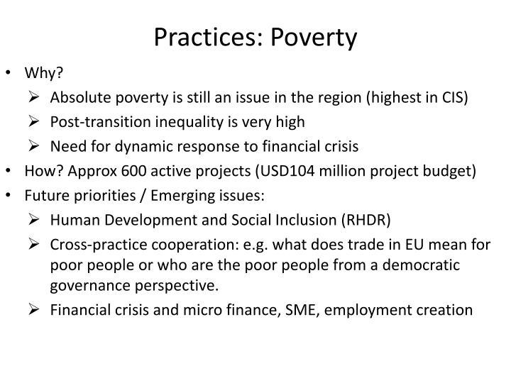 Practices: Poverty