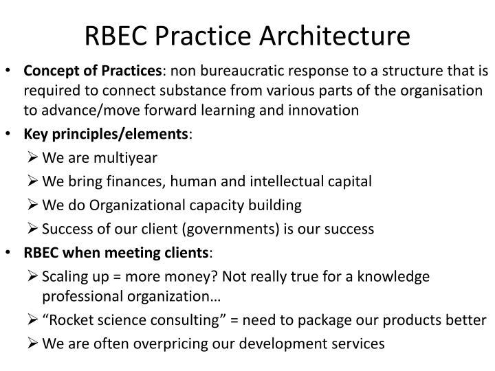 RBEC Practice Architecture