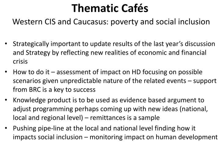 Thematic Cafés