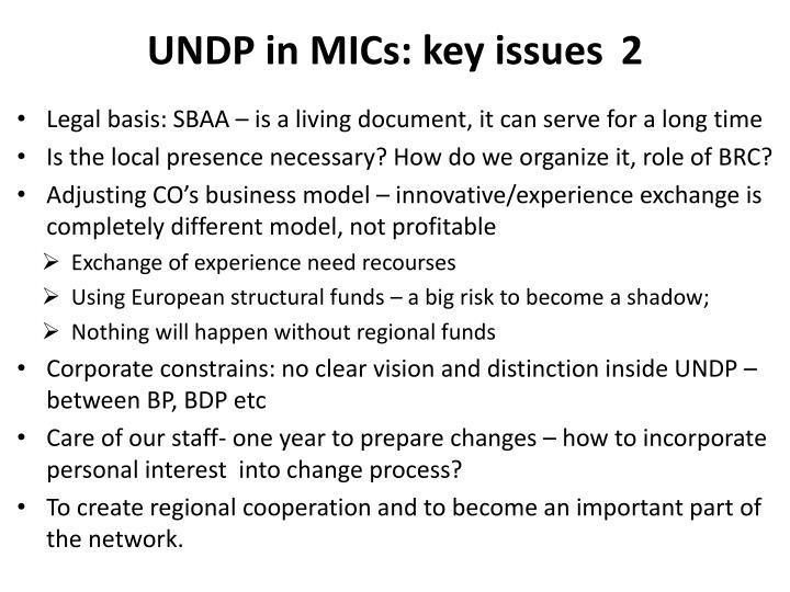 UNDP in MICs: key issues2