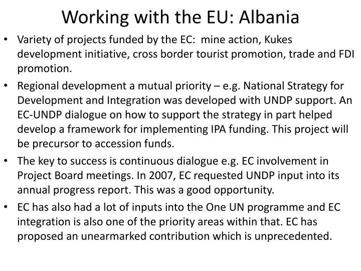 Working with the EU: Albania