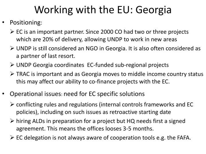 Working with the EU: Georgia