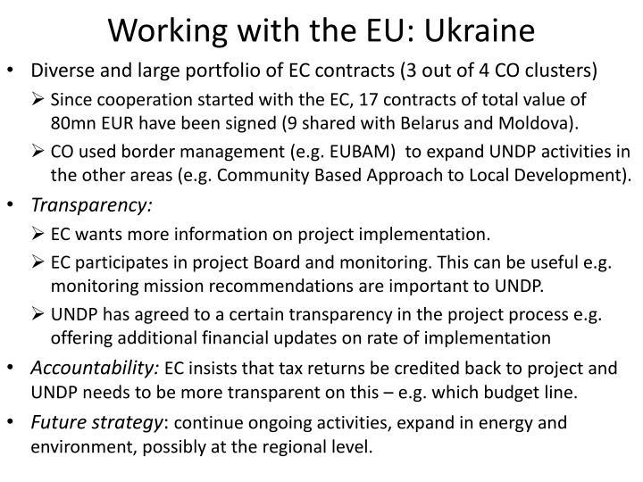 Working with the EU: Ukraine