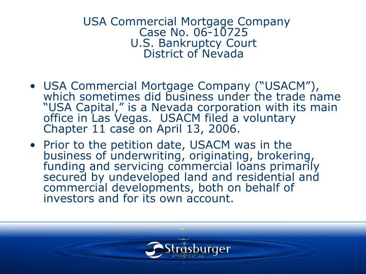 USA Commercial Mortgage Company