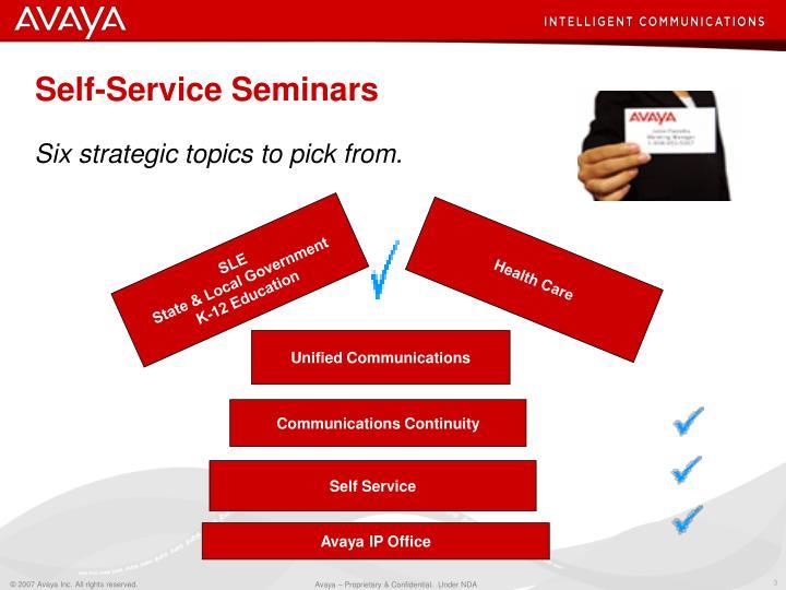 Self service seminars