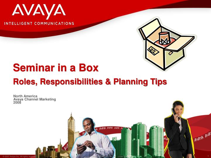 Seminar in a box roles responsibilities planning tips