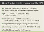 quantitative results water quality 36