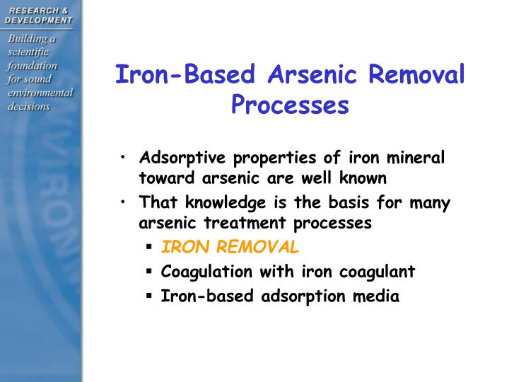 Iron based arsenic removal processes