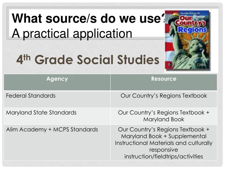 What source/s do we use?