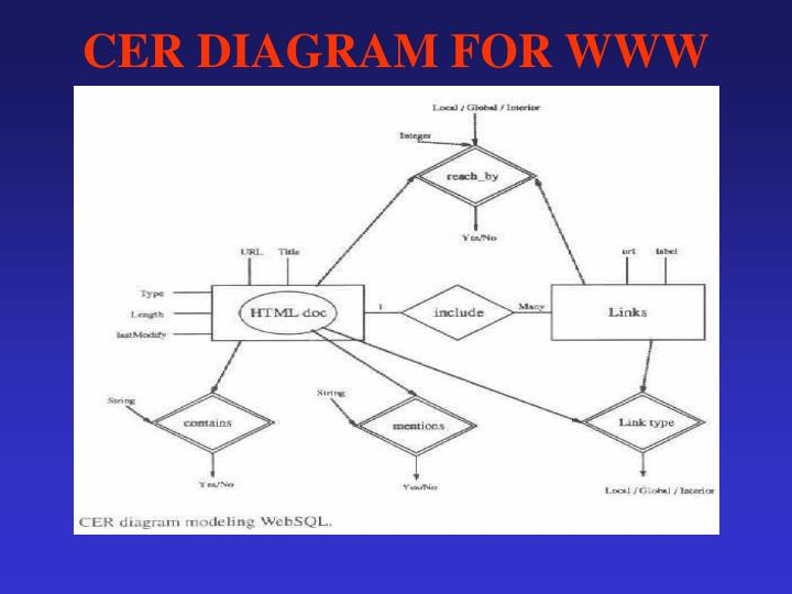 CER DIAGRAM FOR WWW