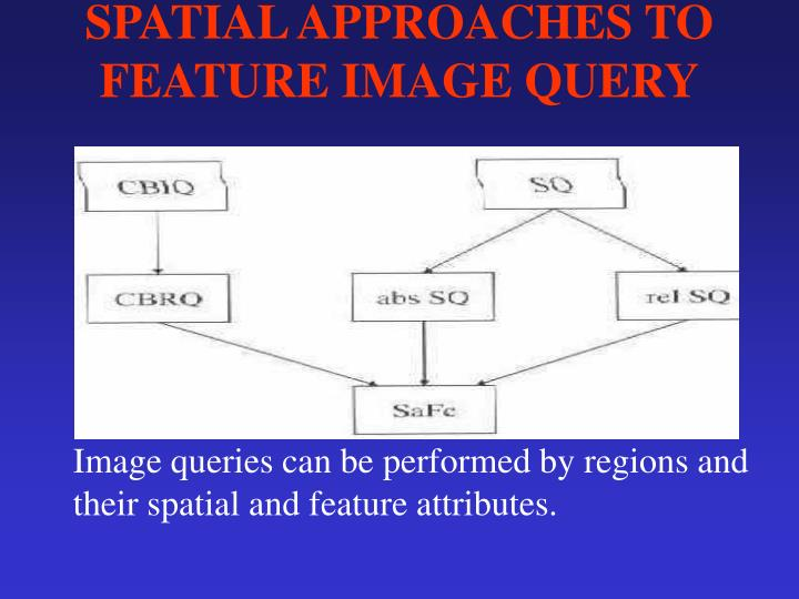 SPATIAL APPROACHES TO FEATURE IMAGE QUERY