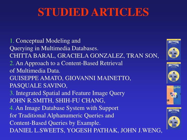 Studied articles