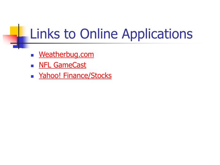 Links to Online Applications