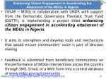 enhancing citizen engagement in accelerating the attainment of the mdgs in nigeria