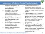 interventions to tackle the threat of flooding in nigeria