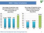 mdg 7 water sanitation
