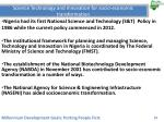 science technology and innovation for socio economic transformation