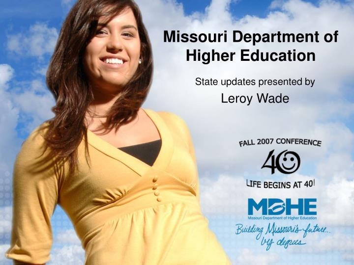 missouri department of higher education n.
