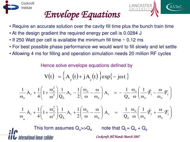 Envelope Equations