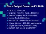 state budget concerns fy 2010