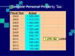 tangible personal property tax