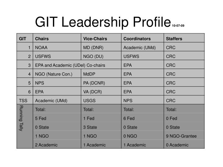 Git leadership profile 10 07 09