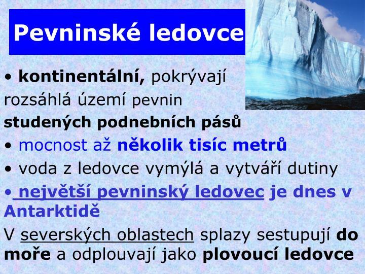 Pevninské ledovce
