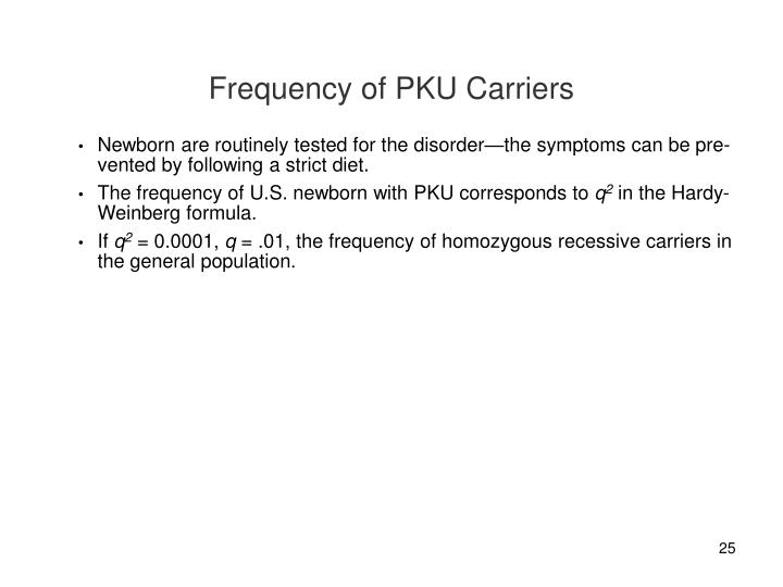 Frequency of PKU Carriers