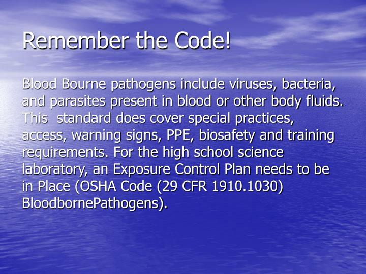 Remember the Code!