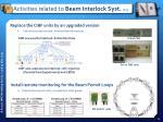 activities related to beam interlock syst 2 3