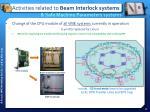 activities related to beam interlock systems