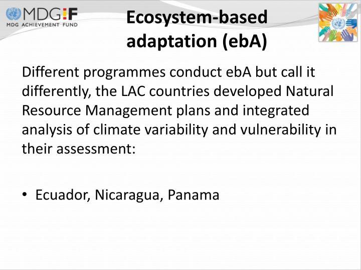 Ecosystem-based adaptation (ebA)