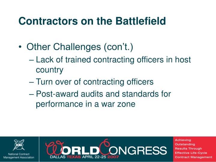 Contractors on the Battlefield