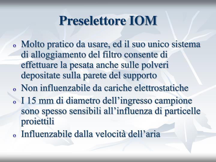 Preselettore IOM