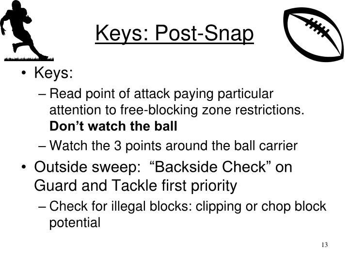 Keys: Post-Snap