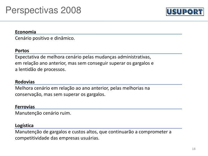 Perspectivas 2008