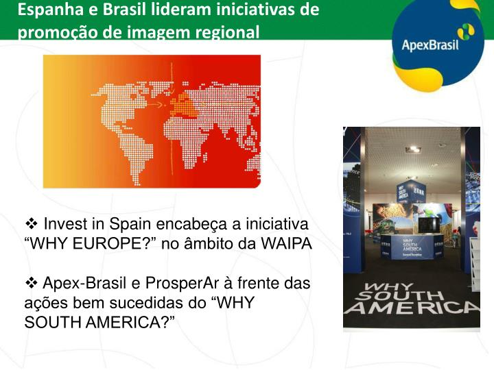 Espanha e Brasil lideram iniciativas de