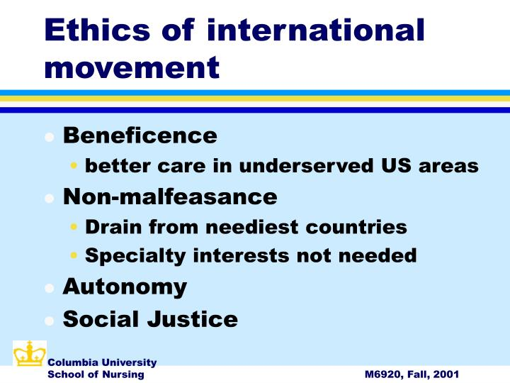 Ethics of international movement